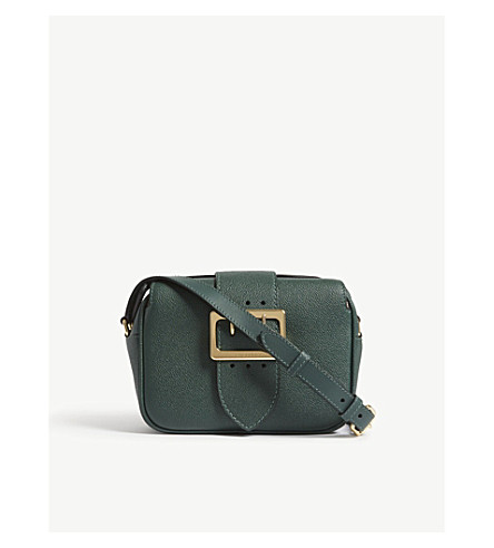 BURBERRY Buckle leather cross-body bag (Sea+green