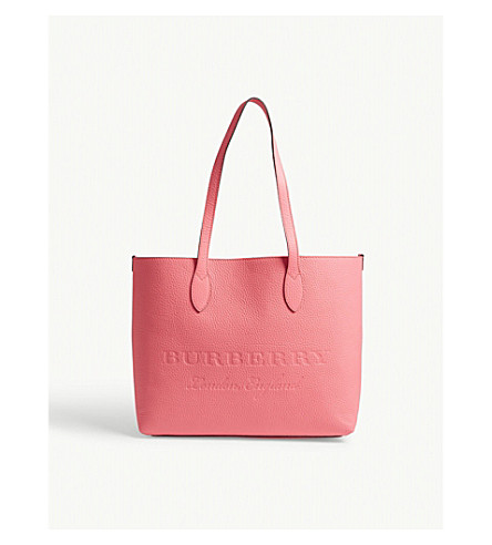 BURBERRY Remington leather East/West tote (Neon+pink