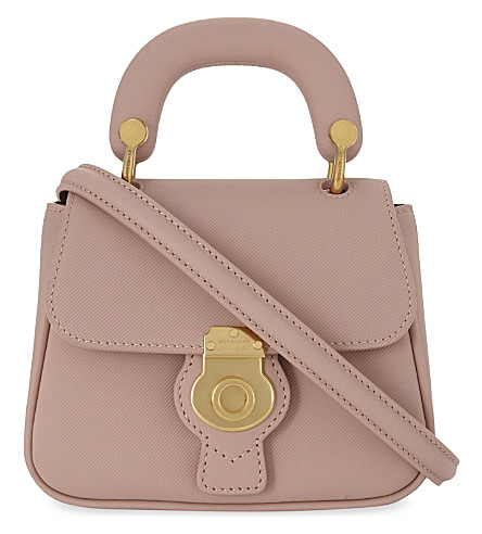 BURBERRY DK88 Trench leather mini cross-body bag (Ash+rose