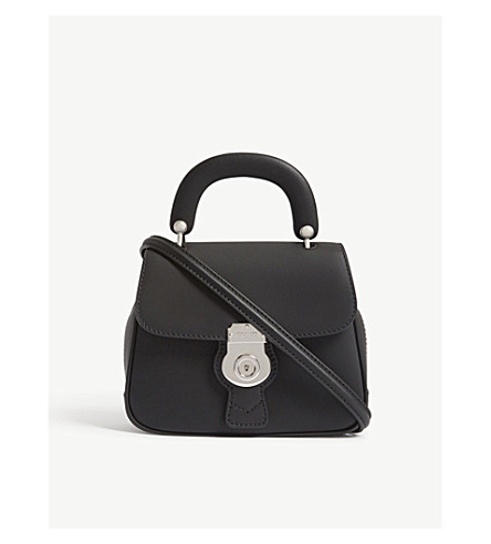 BURBERRY DK88 small leather shoulder bag (Black+silver