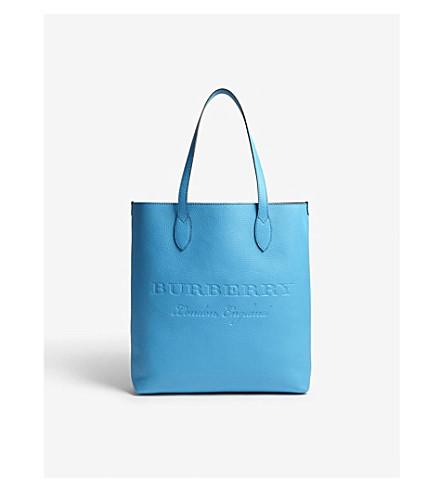 BURBERRY Remington portrait leather tote (Neon+blue
