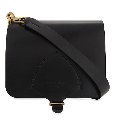 BURBERRY Square leather satchel (Black
