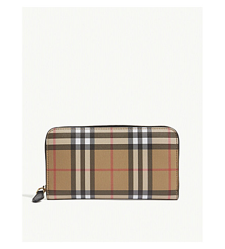 BURBERRY Elmore vintage check wallet (Black