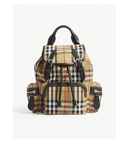 BURBERRY Vintage check small cross-body rucksack (Antique chk