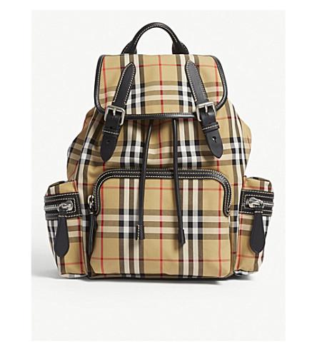 a9dd8a67e0a2 BURBERRY Vintage check medium cross-body rucksack (Antique+chk