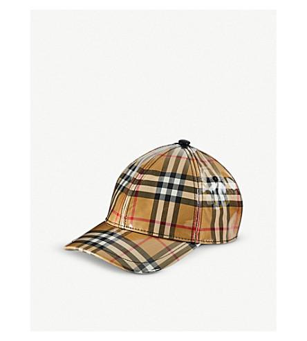 BURBERRY Vintage check PVC baseball cap (Antique+chk