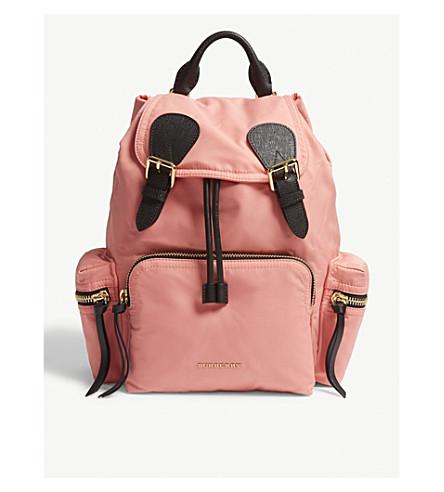 BURBERRY Prorsum medium nylon backpack (Bright coral pink