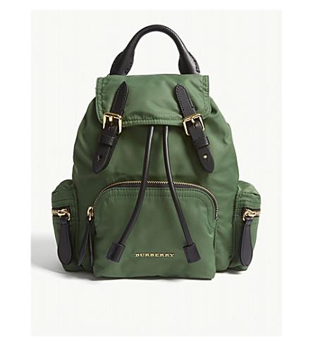 BURBERRY Small nylon backpack (Racing green