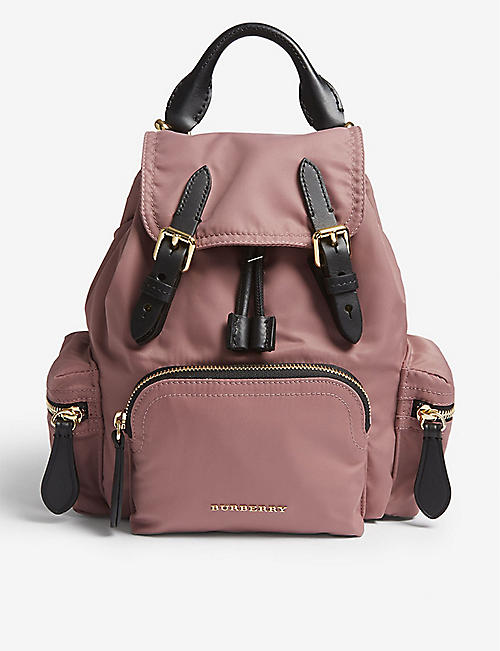 e6a83a531137 BURBERRY Shell and leather backpack. Quick view Wish list
