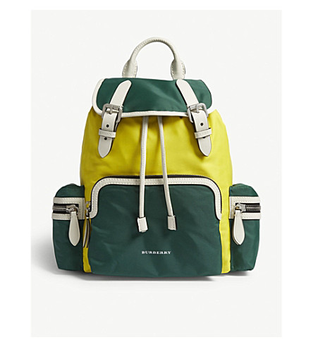 BURBERRY Colour block nylon rucksack