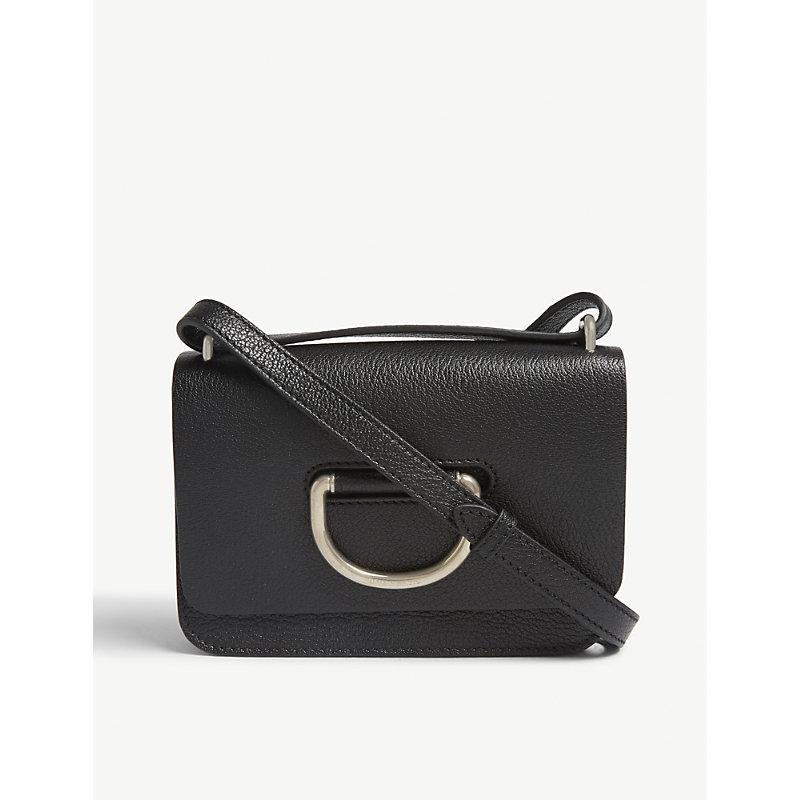 Mini leather D-ring cross-body bag