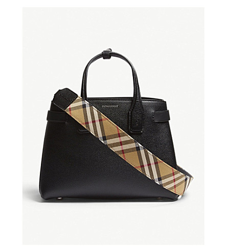 492140779fd8 ... BURBERRY Banner small grained leather tote (Black. PreviousNext