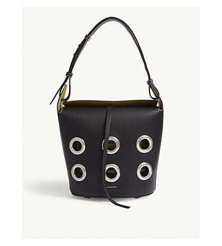 6fbc44310674 ... BURBERRY Grommet leather bucket bag (Black. PreviousNext
