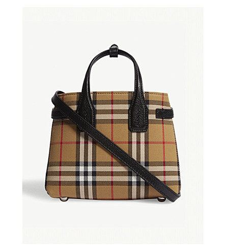 BURBERRY Baby Banner checked cross-body bag (Black