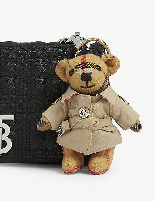BURBERRY Thomas Bear and trench coat cashmere keyring