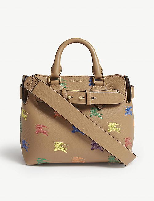 332116adae55 BURBERRY Equestrian knight leather belt bag