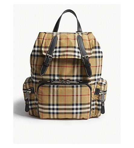 ... BURBERRY Vintage check medium rucksack (Antique+yellow. PreviousNext 76e19aa2bec61