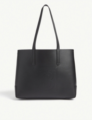 EW embossed leather tote(8309747)