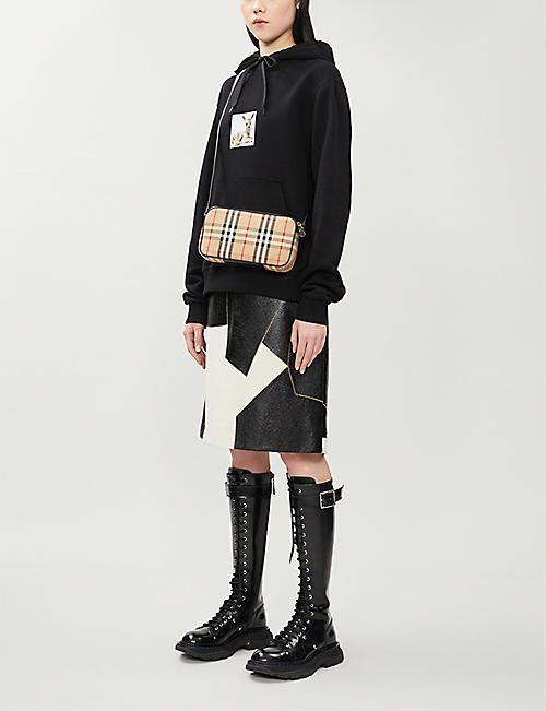 BURBERRY Vintage check canvas mini cross-body bag