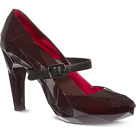 UNITED NUDE Lo Res rubber heels (Burgundy