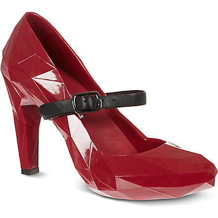 UNITED NUDE Lo Res rubber heels (Cherry