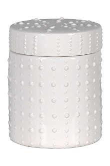 COACH HOUSE Small white spot ceramic jar