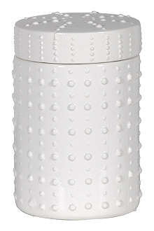 COACH HOUSE Large white spot ceramic jar