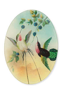 JOHN DERIAN Hummingbirds oval plate