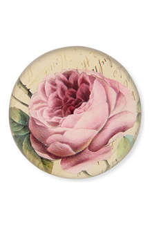 JOHN DERIAN Cabbage Rose dome paperweight