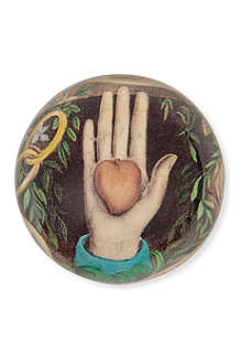 JOHN DERIAN Heart In Hand dome paperweight