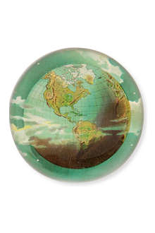 JOHN DERIAN World Globe dome paperweight
