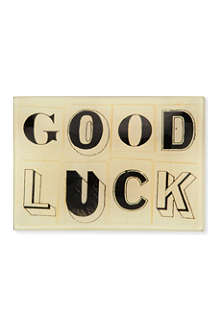 JOHN DERIAN Good Luck tiny rectangular tray