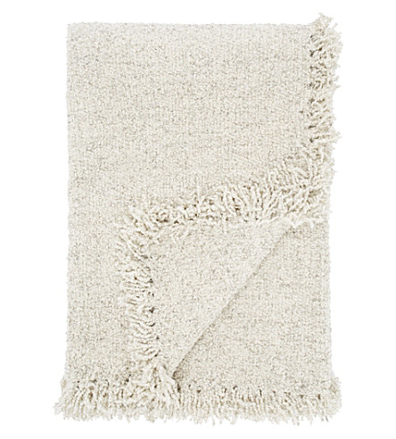 TOM DIXON Boucle wool throw