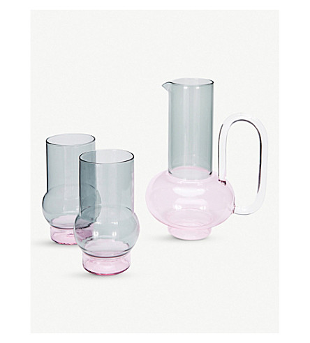 TOM DIXON Bump glass jug