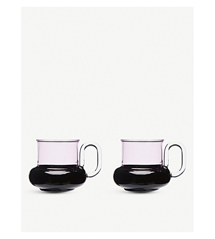 TOM DIXON Bump glass tea cups set of two