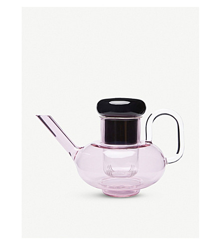 TOM DIXON Bump glass teapot