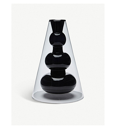 TOM DIXON Bump cone glass vase