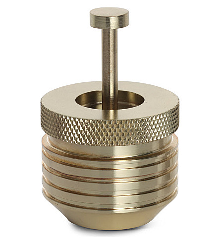 TOM DIXON Brass small cog container
