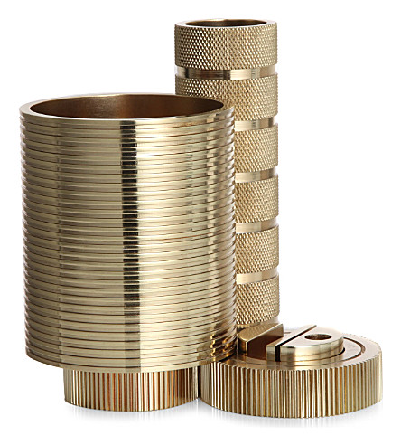 TOM DIXON Brass cog desk tidy
