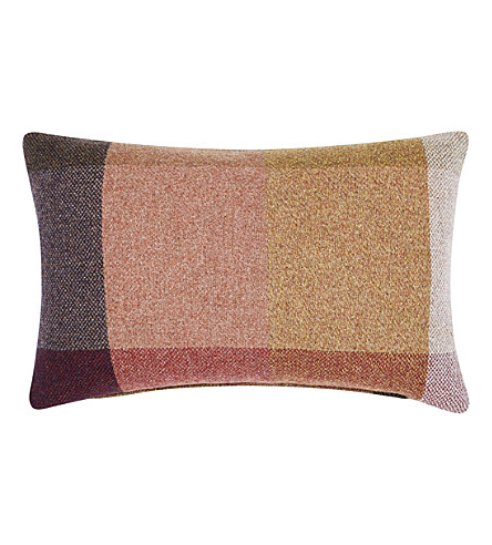 TOM DIXON Check wool cushion 40cm x 60cm
