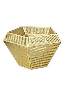 TOM DIXON Cell brass tea light holder