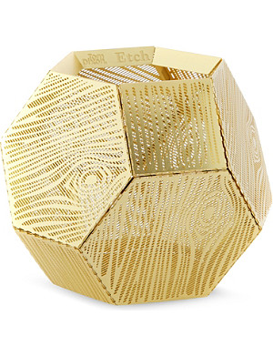 TOM DIXON Etch brass tea light holder