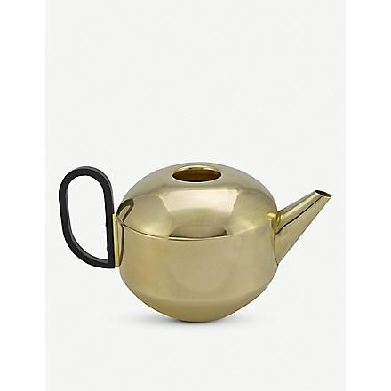 TOM DIXON Brass round teapot