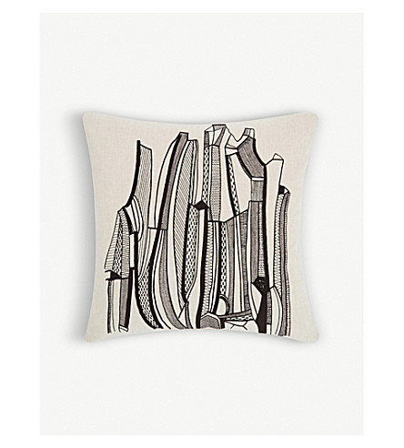 TOM DIXON Geo cotton and linen-blend canvas cushion 60x60cm