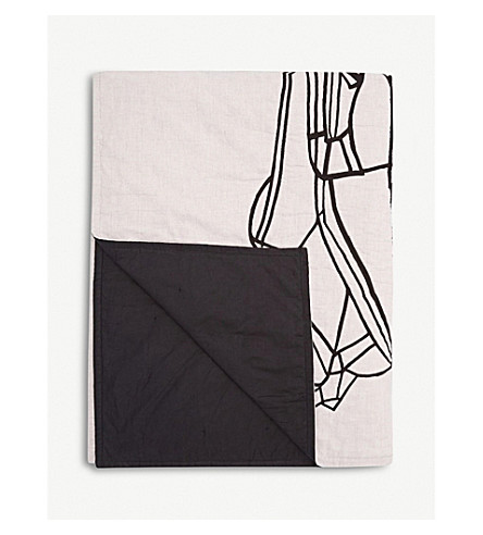 TOM DIXON Geo cotton and linen-blend canvas throw 130x200cm
