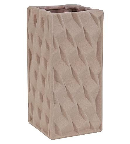 TOM DIXON Small mushroom grid vase