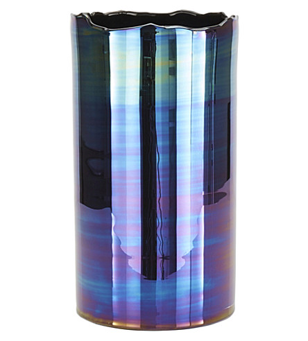 TOM DIXON Iridescent Glass Oil Vase 47cm