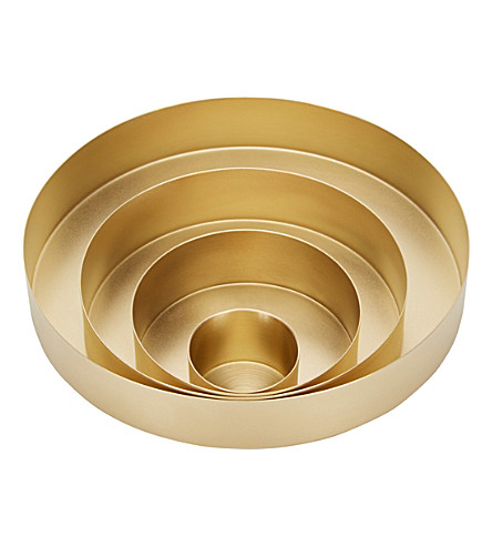 TOM DIXON Orbit small set of brass trays