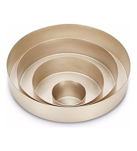 TOM DIXON Orbit small set of silver trays