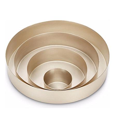 TOM DIXON Orbit small set of silver trays